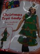 *4 x adult Christmas costumes - angel, tree's, pudding