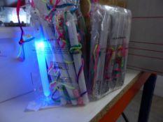 *72 x flashing rainbow wands
