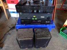 * Teac CD player, Teac Sync tuner, NAD amp with 2 speakers