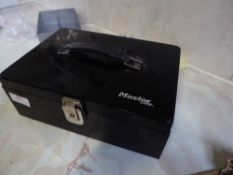 *Masterlock metal box - with key and security wire