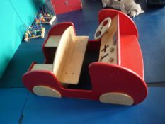*children's play wooden car