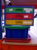 *desk top plastic drawers/box/5 x trays