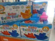 *6.5 boxes (36 per box) baby bath boats