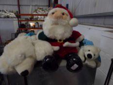 *Santa and polar bear teddy
