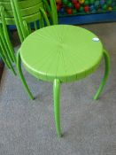 *7 x lime green stools