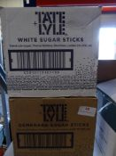 *2 x 2.5kg sugar sticks - 1 x white, 1 x brown