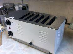 *Rowlett 6 slice white and S/S toaster
