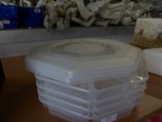 * 4 x snack trays with lids
