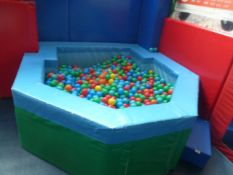 *deep ball pool with balls. 2100w x 2200d x 650h. Foam construction - ideal for smaller children, Re