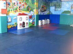 *Floor and wall mats from soft play complex - Wall matts approx. 9m x 5m. Wall panels 9m wide.