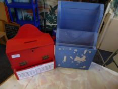 *suggestion box and leaflet holder