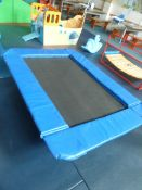 *Supertramp trampoline (complete with replacement bounce pad) 1800w x 1300d x 400h
