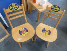 *2 x folding wooden birthday chairs