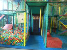 *Large soft play construction - 7.8m w x 5.8m d x 4.2m h. Constructed over two levels