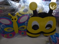 *foam kids character masks - bee's/butterfly/ladybirds