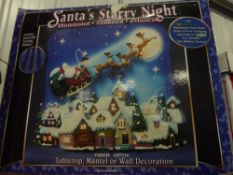 *Santa's starry night scene - illuminated, animated, musical