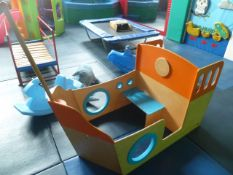 *Wooden children's play pirate ship
