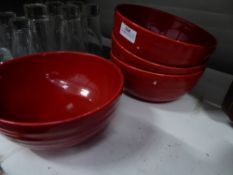* 4 x red bowls