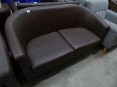 * 2 x 2 seater leather sofas