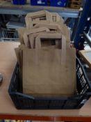 * brown paper bags