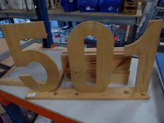 * Levi's 501 sign