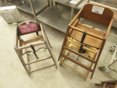 * 3 x wooden high chairs