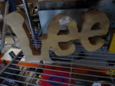 * Lee' branded sign