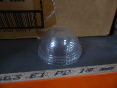 * PET dome lids with hole - large quantity