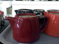 * 18 x assorted coloured stump tea pots