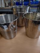 * 3 x S/S wine buckets