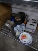 * large quantity of outdoor items - ideal for display, includes; camping kettles, flasks, mess tins,