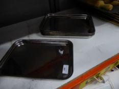 * 6 x S/S rectangle trays. 320w x 220d