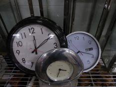 * 3 x wall clocks