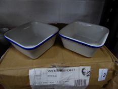 * 12 x square pie dishes