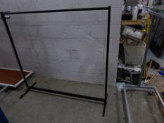* 6 x black metal frame hanging rails 1530w x 470d x 1460h