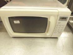 * Cookworks white domestic microwave