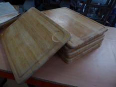 * 8 x wooden chopping boards