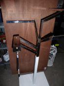 * multi-arm hanging rail - white base, chrome arms