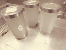 * 3 x glas jars with lids