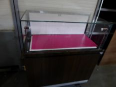 * glass display cabinates - with drawers underneath. 1000w 500d x 1100h