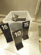 * 25+ x black acrylic table numbers