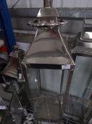 * S/S lantern. 250w x 250d x 900h