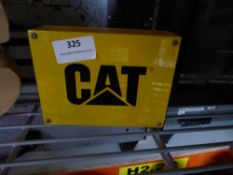 * small 'CAT' branded sign