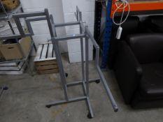 * 4 x 4 arm adjustable height - multi level hanging rails on castors.