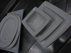 * 35+ white crockery plates/bowls