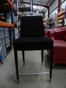 * 2 x black low level stools