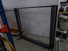 * 5 x grey metal frame hanging rails 1530w x 470d x 1470h