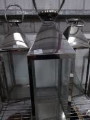 * S/S lantern. 230w x 230d x 710.