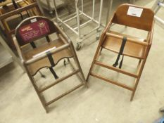 * 2 x wooden high chairs