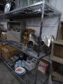 * 3 shelf wire rack. 1800w x 600d x 1700h